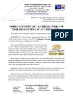 Mac and Cheese Cookoff Saturday