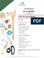 Lista de Ingredientes - Churrasco n Cozinha