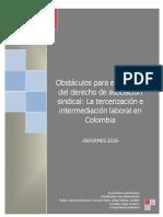 Tercerizacion laboral en Colombia