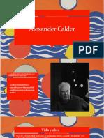 Presentación Alexander Calder
