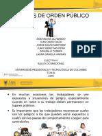 Salud Ocupacional Riesgos Publicos