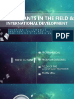 Accountants in the Field and International Development