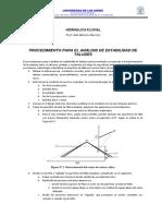 Procedimiento Para El Análisis de Estabilidad de Taludes - Apuntes
