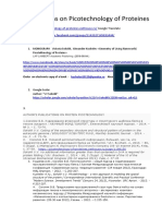 Publications on Pico Technology of Proteins