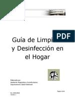 Guía desinfección en el Hogar
