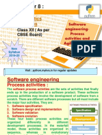 Software Engineering-Process Activities and Agile Methods
