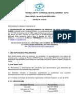01112019 Edital 24 Prêmio CAPES Talento Universitário