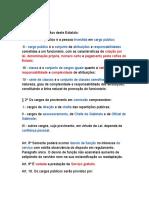Resumo Lei 6.123 Estatuto dos Servidores Civis de Pernambuco