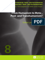 Irina Deretic From Humanism to Meta Post and Transhumanism