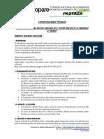 Especificaciones Técnicas Bateria Sanitaria