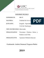 Informe Técnico Exp. Civil