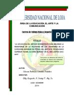 Tesis Metodo de Entrenamiento Intermitente PDF