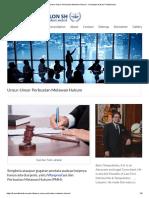 Unsur-Unsur Perbuatan Melawan Hukum - Konsultan Hukum Professional