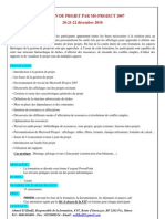 Formation Gestion de Projet - MS-Project 2007