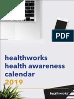Healthworks 2019 Calendar