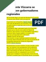 Presidente Vizcarra Se Reúne Con Gobernadores Regionales