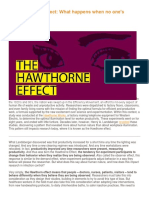 The Hawthorne Effect What Happens When No One's Watching