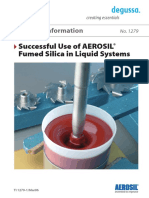 TI 1279 Successful Use of Aerosil Fumed Silica in Liquid System