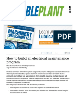 How to Build an Electrical Maintenance Program