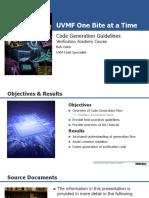 Course Uvm-framework Session17 Code-generation-guidelines Boden
