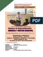 Diploma de Especializacion Gerencia y Gestion Municipal