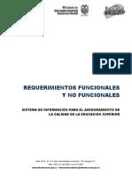 Requerimientos Funcionales y No Funcionales