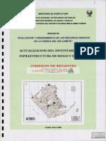 Inventario de infraestructura del río CAñete