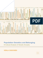 Oikkonen, Venla - Population Genetics and Belonging _ a Cultural Analysis of Genetic Ancestry-Palgrave Macmillan (2018)