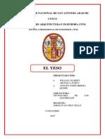 El Yeso Informe