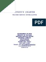 HL Citizen Charter WSC Kannur