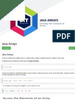 JAVA and Python - Arrays