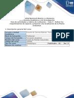 Guía de Actividades y Rúbrica de Evaluación - Fase 3 - Definir Los Requerimientos de Espacio y Proponer Una Localización de Planta.