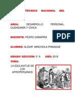 La Esclavitud Afroperuana