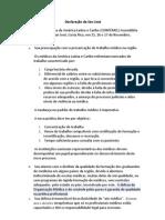 Declaração de San José Pt-BR
