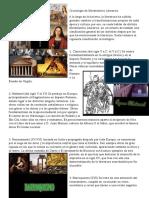 Cronología de Movimientos Literarios