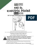 Electric Hoist 40765