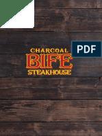 BIFE Charcoal Steakhouse Menu
