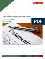 ¿Qué Es La Herencia Anticipada y Cómo Puedes Tramitarla_ _ RPP Noticias