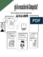 Documento, Cómo Surgio La Vocación de Catequista