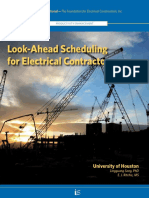 Look Ahead Scheduling for Electrical Contractors