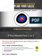Predictable Revenue Guide to Tripling Your Sales Part 3 Outbound Sales 1