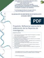 Elaboración de Reportes de Investigación