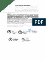4.0 Acta de Operacion y Manteniento Ccollpachina Huaycco