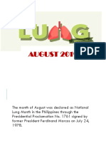 Tuberculosis for Lung Month
