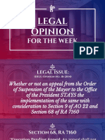 Execution Pending Appeal DILG Legal Opinion