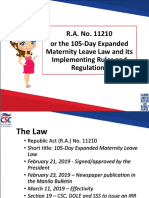 Expanded Maternity Leave Law