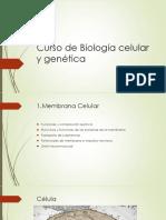 Biologia Celular y Genetica Membrana