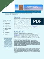 Bashde Newletter Volume 1 Issue 1