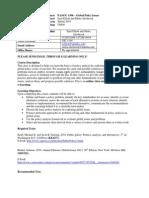 UT Dallas Syllabus for pa4396.0i1.11s taught by Euel Elliott (eelliott, mpa051000)
