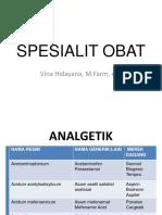 SPESIALIT OBAT analgetik